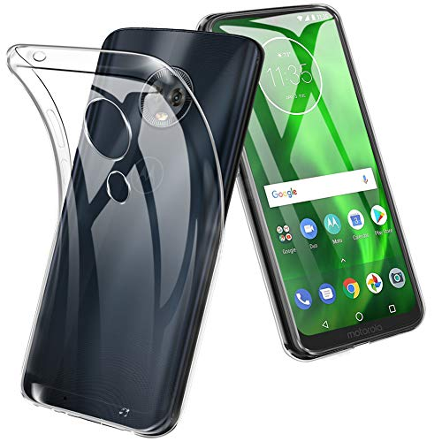 Moto G7 Case, TopACE TPU Rubber Gel Shock-Absorption Bumper Anti-Scratch Silicone Cover Compatible for Motorola Moto G7 (Clear)