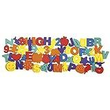 60 Piece Paint Sponge Set: Letters, Numbers and Shapes