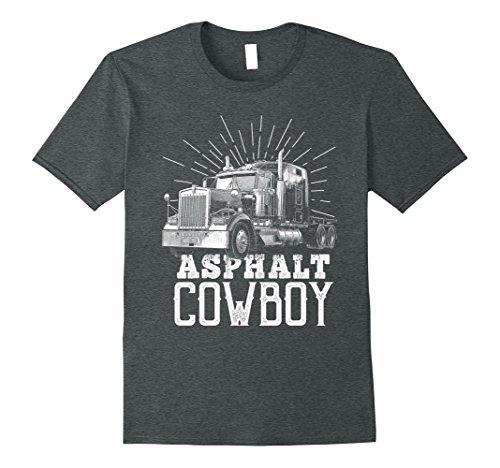 Mens Asphalt Cowboy Trucker Truck Driver Shirt Truck Driver Gift XL Dark Heather