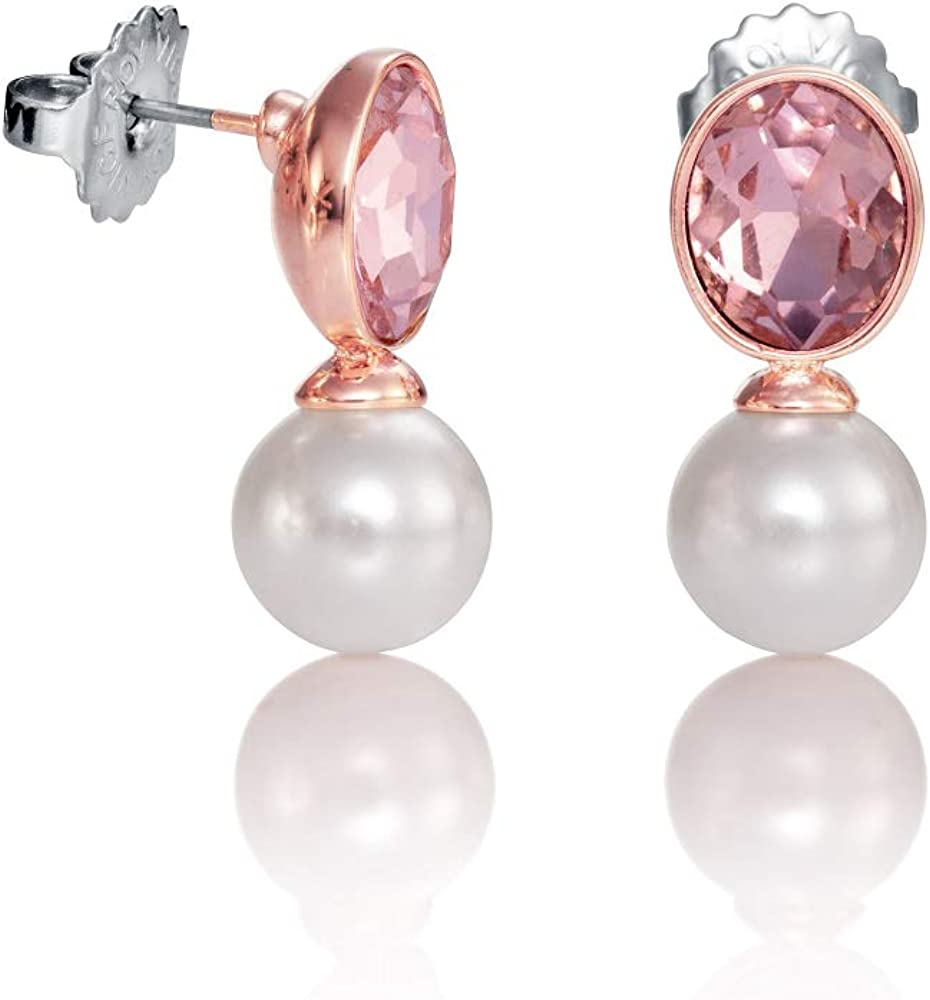 Pendientes Chic Viceroy 3198E19019 mujer IP rosado perla sintética