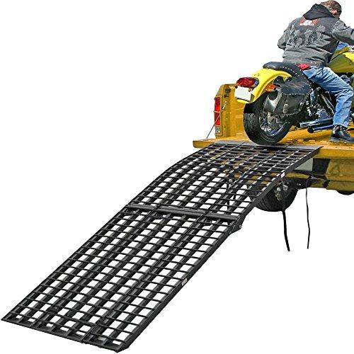 Rage Powersports Black Widow 3-Piece Heavy Duty Folding Arched Motorcycle Ramp