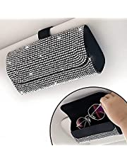 Bling brillenhouder voor zonneklep in de auto, bling bling bling, brillenhouder voor autozonneklep, PU-leer, zonnebril, opbergtas, brillen, organizer, beschermbox, autoaccessoires voor vrachtwagen, SUV's, camper