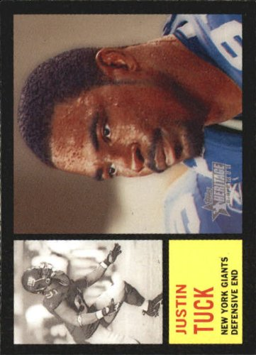 2005 Topps Heritage Football Rookie Card #284 Justin Tuck Near ()