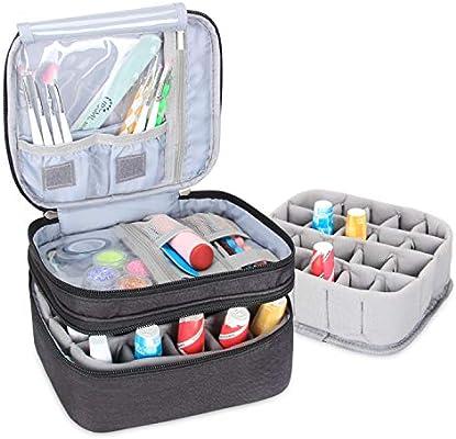 Luxja Organizador de esmaltes de uñas, esmaltes de uñas Estuche, Porta esmaltes de uñas- Sostiene 20