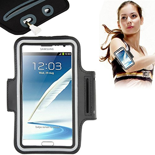 """DFV mobile - Armband Professional Cover Neoprene Waterproof Wraparound Sport with Buckle for =>      APPLE IPHONE 7 [4,7""""] > Black"""