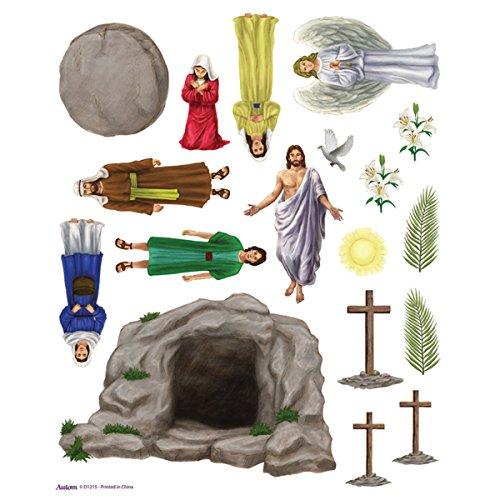 18 Piece Resurrection of Jesus Christ Sunday School Easter Magnet Set, Pack of 50 Sheets]()