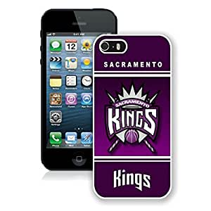 New Custom Design Cover Case For iPhone 5s Generation Sacramento Kings 10 White Phone Case