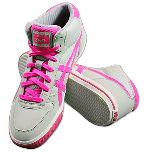 Asics Onitsuka Tiger UNTERKNIE GS Calzado Sneaker con gran Óptica Gris / Rosa