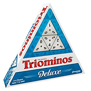 Pressman Tri-Ominos - Deluxe Edition Triangular Tiles with Brass Spinners