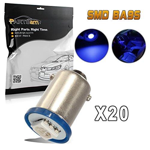 Partsam 20pcs Car LED Bulbs Blue Ba9s 1815 1895 57 53 Instrument Gauge Cluster Repair Bulb Kits 12V by Partsam
