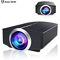 BeamerKing Video Projector, 1800 Lumens Portable Movie Projectors with Stereo Speaker Support 1080P Full HD to PS4 Xbox PC Laptop USB Smartphone for Gaming Parties Home Cinema Movies