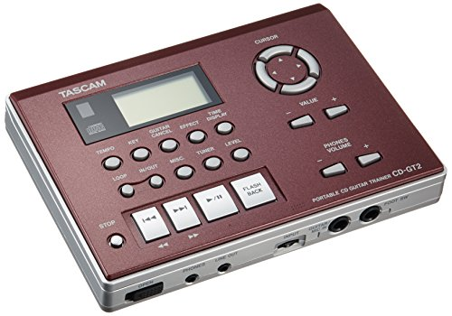 Tascam Bass Trainer - Tascam Tascam Guitar Trainer and Portable CD Player, 1/2 Speed Playback without Changing Pitch, Built-in FX, Built-in Tuner