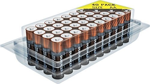 Duracell MN1500 Duralock Copper Top Alkaline AA Batteries - 40 - Aa Duracell