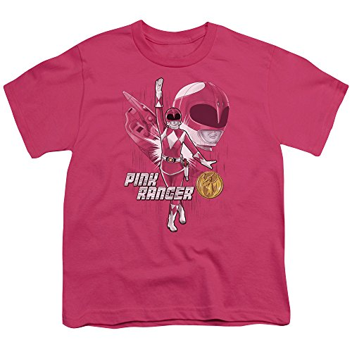 Power Rangers Pink Ranger Unisex Youth T Shirt For Boys and Girls -