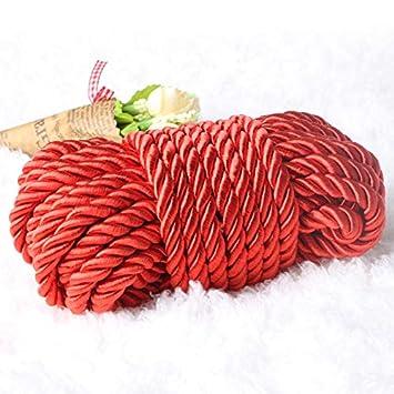 Cuerda de algodón 100% natural torcida - Cuerda de algodón roja ...