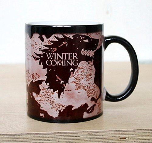 Color Changing Mug, Game Of Thrones Mug , Funny Teacup, Magic Mugs, Magical Mug, Ceramic Coffee Mug, Funny Message, Winter is Coming