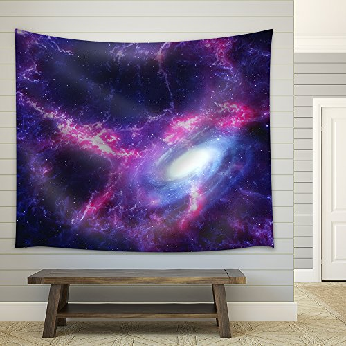 Space background with nebula and galaxy Fabric Wall Tapestry