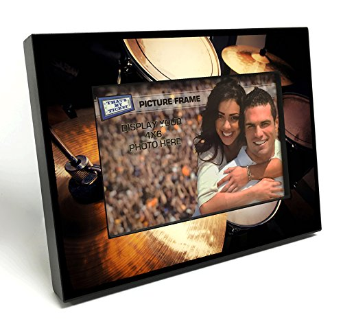 Drum Photo Poster (Drum Set 4x6 inch Table Top Picture Frame)