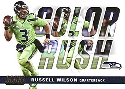 d31d523ab 2017 Score Color Rush  16 Russell Wilson Seattle Seahawks Football Card