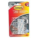 Command Clear Small Cord Organizers,  8 Clips 12 Mini Strips, (17302CLR-C)
