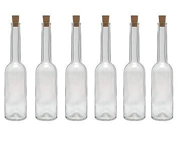 hocz Juego de Botellas de Cristal tapón de Corcho, 6/10 ...