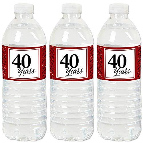 (We Still Do - 40th Wedding Anniversary - Anniversary Party Water Bottle Sticker Labels - Set of 20)