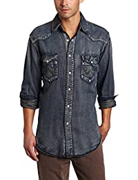Men's Authentic Cowboy Cut Work Western Long-Sleeve Shirt