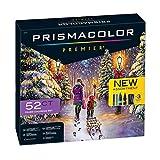 PrismaColor Premier 52-Piece Gift Set, Includes 24 Premier Colored Pencils for Landscape and Under The Sea Themes, 24 Premier Dual Ended Markers, 3 Coloring Pages and 1 Premier Pencil Sharpener