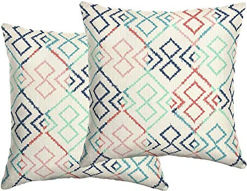 Comfort Classics Inc. Set of 2 Indoor/Outdoor Throw Pillow 16″ x 16″ x 5″