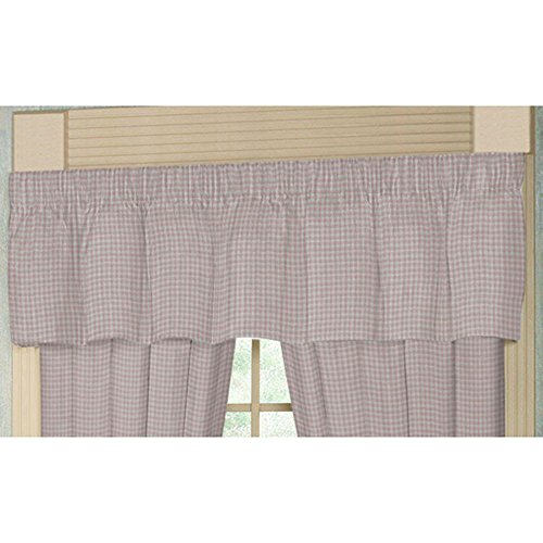 Patch Magic Baby Pink and White Gingham Chk Fabric Curtain Valance, 54-Inch by ()