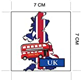 UK London England National Flag and Map Sticker for customization of favorite items such as suitcases