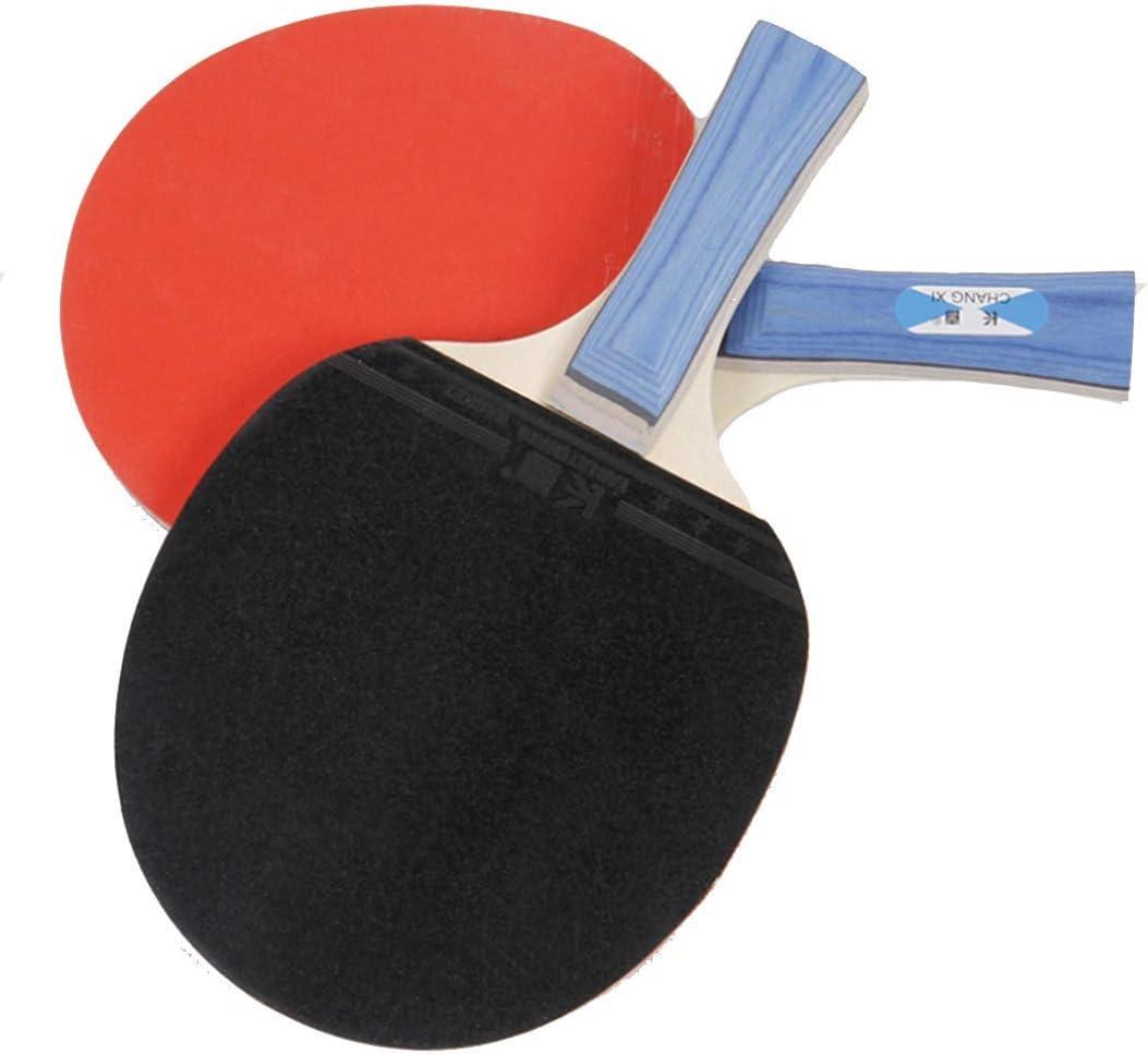 SHJMANPP Deportes Pala De Ping Pong para 2 Raqueta Y 3 Pelotas De Tenis De Mesa para El Juego En Casa, El Colegio, En Exteriores O De Viaje Fitness, Red