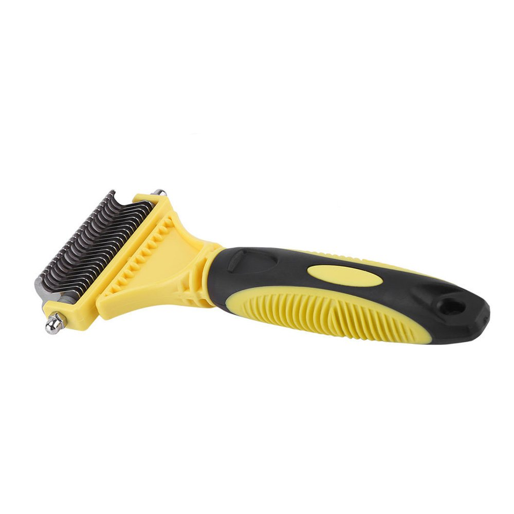 Doneyall Stainless Steel Pet Cat Dog Cleaning Long Hair Slicker Brush Comb Shedding Tool