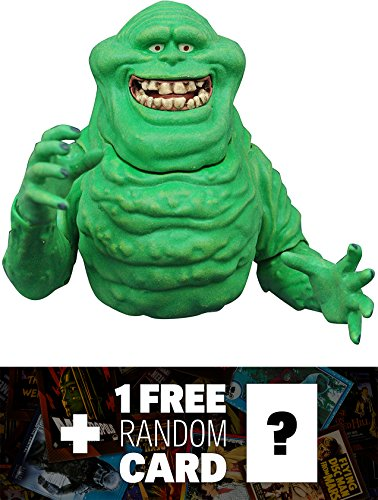 Slimer: Diamond Select x Ghostbusters Action Figure Wave 3 + 1 FREE Classic Sci-fi & Horror Movies Trading Card Bundle (73081)