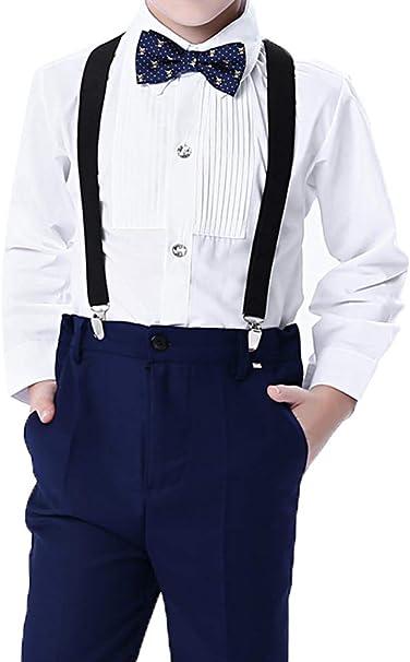 ARAUS Traje de Vestir Niños Conjuntos 4 Piezas Camisa Pantalones ...