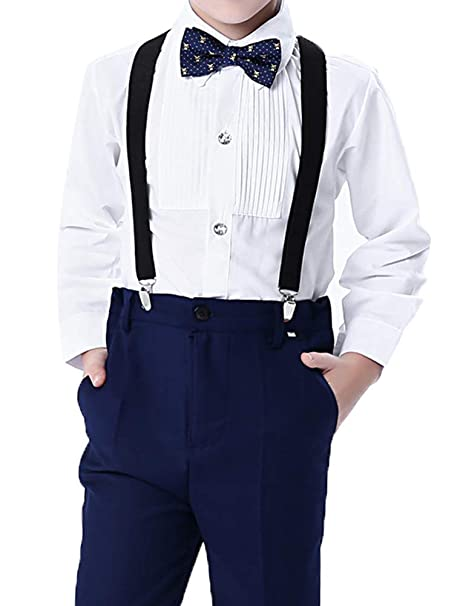 ARAUS Traje de Vestir Niños Conjuntos 4 Piezas Camisa ...