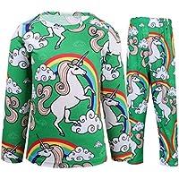Girls Unicorn Pajamas Kids Clothing Set Sleepwear Long/Short Sleeve