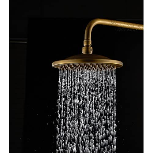Cheap Victorian Ages Old Fashion Antique Brass Finish Rain Style Showerhead,  Waterfall Shower Head Made
