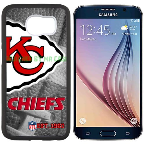 Chiefs KC Football New Black Samsung Galaxy S6 Case by Mr Case