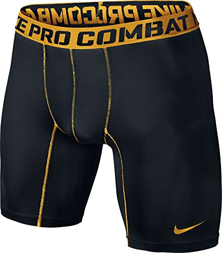 Nike Pro Combat Core Compression Six-Inch Short 2.0 (BLACK///UNIVERSITY GOLD, - Shorts Nike Gold Training