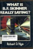 What Is B. F. Skinner Really Saying?, Robert D. Nye, 0139521925