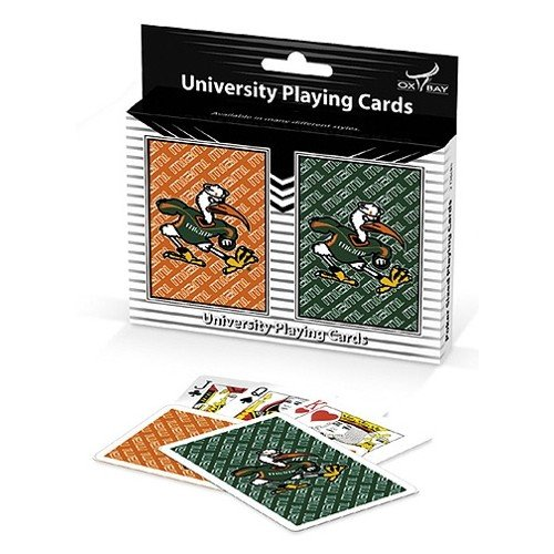 Miami Hurricanes Team Spirit Two-Pack Playing Cards
