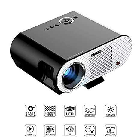 GP100 Vídeo proyector, 3500 Lúmenes LCD 1080P Full HD LED móviles ...
