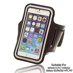 OnlineBestDigital - Sports Running Jogging Gym Armband Case Holder for Apple iPhone 6 (4.7 inch)Smartphone - Black by icecream design