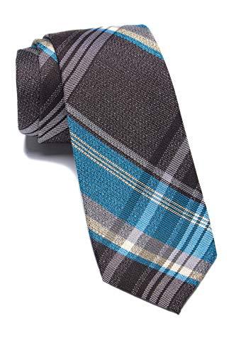 Ben Sherman Carlyle Plaid Tie - Brown/Aqua