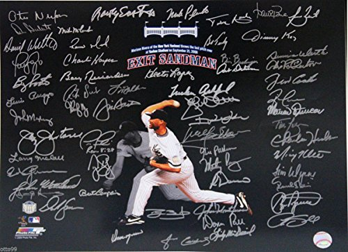 MARIANO RIVERA EXIT SANDMAN 16x20 MULTI SIGNED YANKEE STADIUM FINAL PITCH PHOTO (Yankee Photograph 16x20 Stadium)