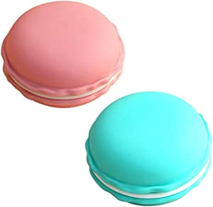 Giant Macaron Case, Coolrunner Macaron Jewelry Box, Macaron Cute Pill Box, Colorful Macaron Jewelry Storage Box, Shape Storage Box Candy Cute Pill Organizer Case Container(Large 2 pcs)
