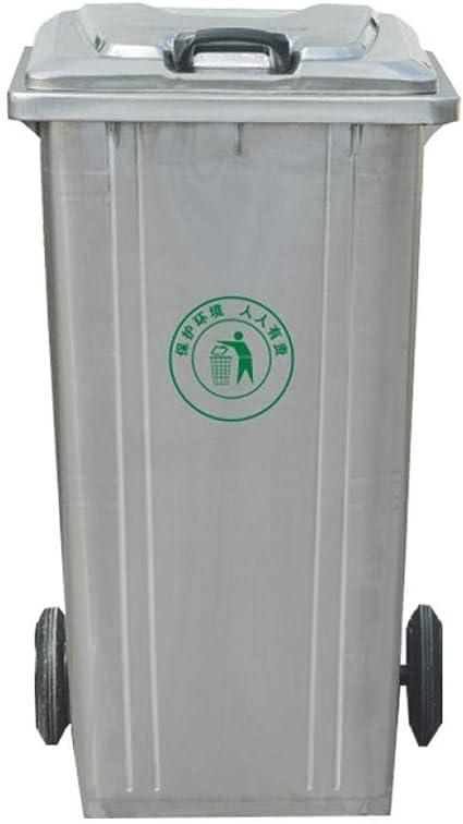 XHCP - Cubo de Basura para jardín con Tapa con Cerradura (Redondo, 168 L, sin Rueda): Amazon.es: Hogar