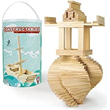 Constructables! Natural Pine Wood Building Planks, 150pcs. by Imagination Generation