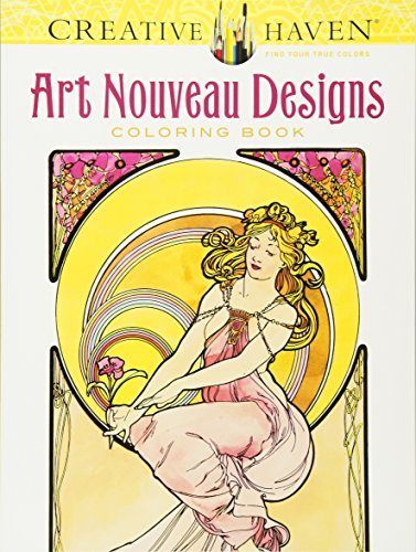 Creative Haven Art Nouveau Designs Coloring Book (Adult Coloring)